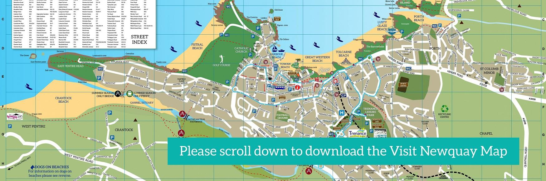 Map Of Newquay Maps   Newquay