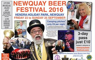 Newquay Beer Festival 2016 at Hendra Holiday Park