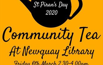 St Piran's Day Community Tea at Newquay Library