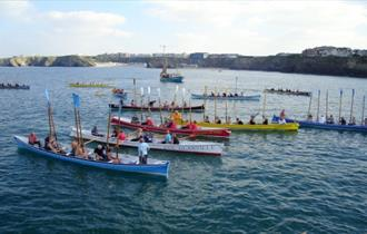 Charity Gig Race at Newquay Harbour