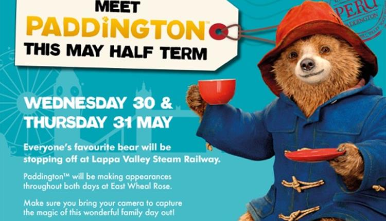 Meet Paddington Bear at Lappa Valley!