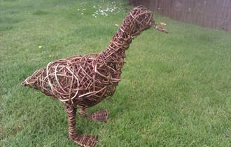 Willow Weaving Sculptures at Newquay's Coastal Valley Campsite