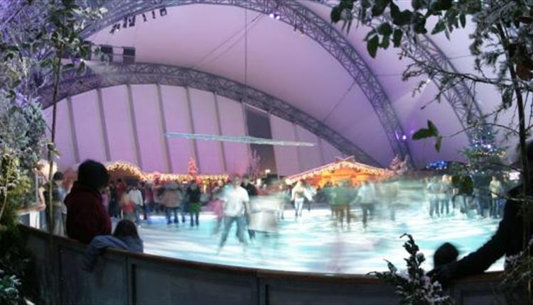 Ice Rink at the Eden Project