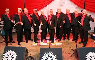 Christmas Concert with Newquay Male Voice Choir with Oll and Gwella