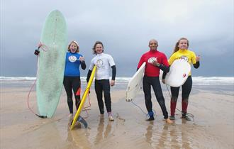 English Adaptive Surfing Opens at Fistral Beach